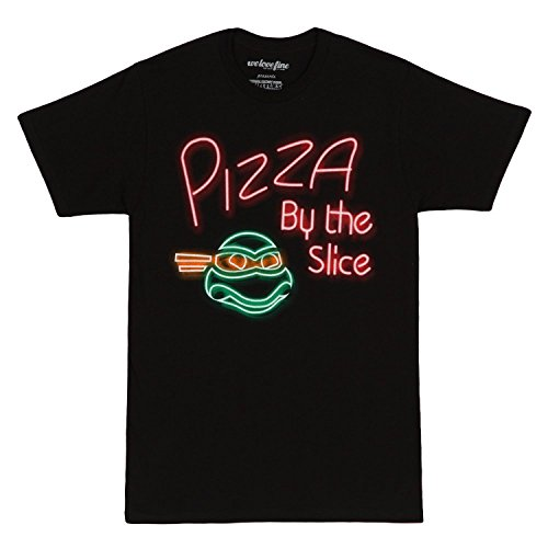 T Neon shirt Black Mutant Xl Mens Teenage Turtles Pizza Ninja wfqp0TI
