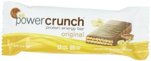 Power Crunch Protein Energy, Peanut Butter Fudge Butter Fudge, 1.4-Ounce Bar (Pack of ()
