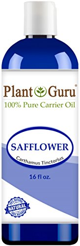 Safflower Oil 16 oz. 100% Pure Natural Carrier - Skin, Body And Face. Great for Massage & More!