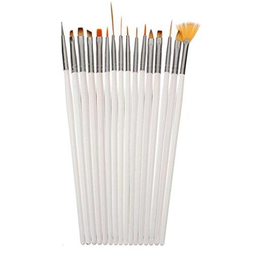 16pcs Nail Brush Brushes Set Nail Polish Gel Art Paint Design Pen Tools Makeup
