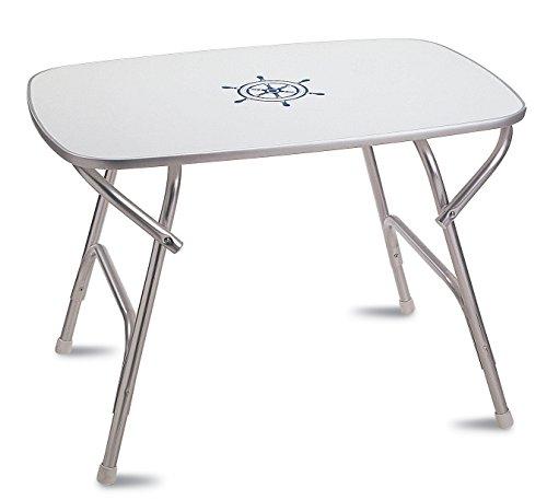 - FORMA MARINE Deck Table 23'6 x 34'6 x 24', Boat Table, Folding, Rectangular, Anodized, Aluminium, Model M450
