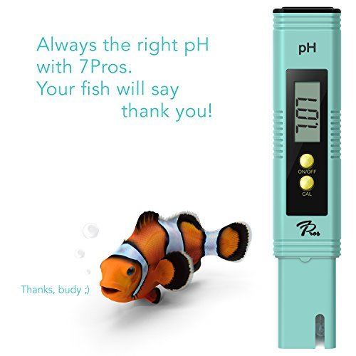 PH Meter with Automatic Calibration, 7Pros High Accuracy Pen Type Water Quality Tester, 6 pH Buffer Powder Packets, Best Tool for Testing PH of Fish Tank, Pool, Pond, Kombucha, Wine and Drinking Water