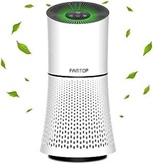 Famtop purificadores de aire, 4 en 1 True HEPA Limpiador de aire para el hogar, oficina, recámaras, sistema de filtración silencioso para eliminar el 99,97% de las ...