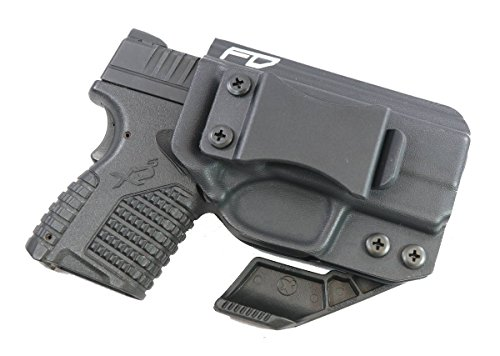Fierce Defender IWB Kydex Holster Springfield XDS The Paladin Series -Made in USA- (Black)