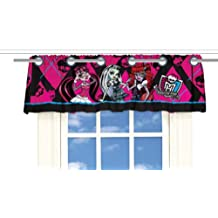 Monster High Valance Window Treatment with Grommets