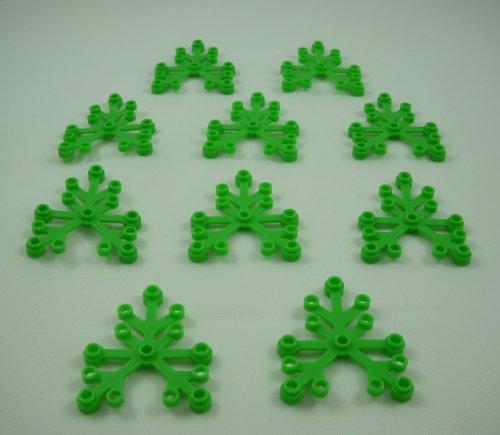 Lego Plants: 10 Bright Green Tree Leaves