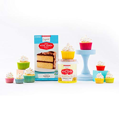 Miss Jones Baking 90% Organic Birthday Buttercream Frosting, Perfect for Icing and Decorating, Vegan-Friendly: Confetti Pop (Pack of 6) by Miss Jones Baking (Image #12)