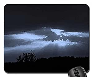 Night Sky Mouse Pad, Mousepad (Sky Mouse Pad, Watercolor style)