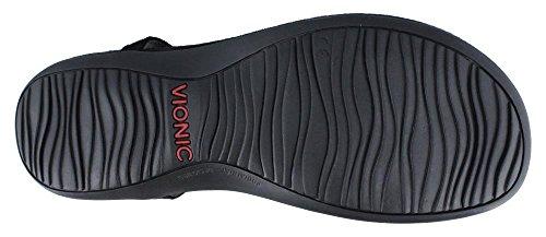 Vionic Orthaheel Technology Womens Sosha Black 8 Medium