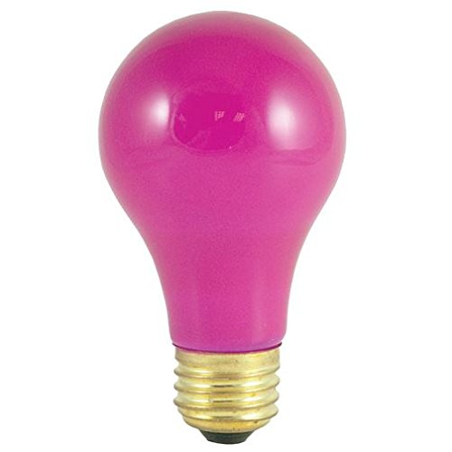 Bulbrite 25A/CP 25-Watt Incandescent Standard A19, Medium Base, Ceramic Pink