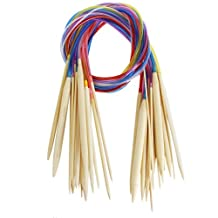 "Celine lin 18 sizes 16 inch""(40cm) Colorful Circular Bamboo Knitting Needles (2mm-10mm)"