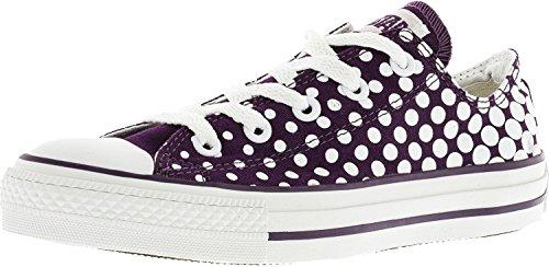 Converse Chuck Taylor All Star Punkte Knöchelhoher Canvas Fashion Sneaker Schatten lila