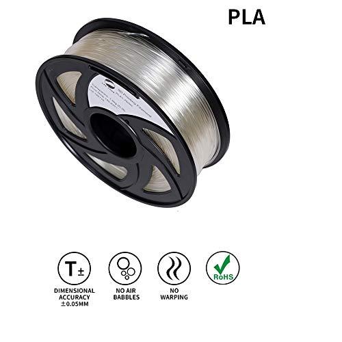- LEE FUNG 1.75mm PLA 3D Printing Filament Dimensional Accuracy +/- 0.05 mm 2.2 LB Spool DIY Material Tools (Transparent)