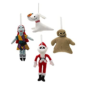 official disney the nightmare before christmas tree decorations set of 4 soft plush