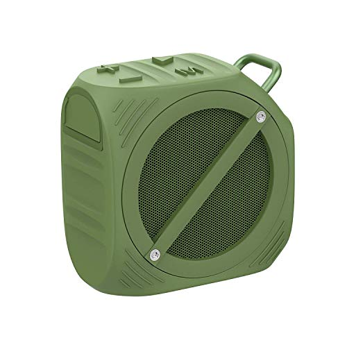 Bluetooth Speakers IPX7 Waterproof, Bluetooth 4.0 Portable Wireless Speaker with deep Bass Stereo Sound 10H Playtime for Home, Outdoors, Party, Travel Army Green