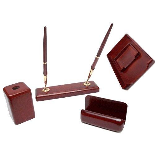 Set de accesorios para escritorio 5 piezas de madera - WOOD SET