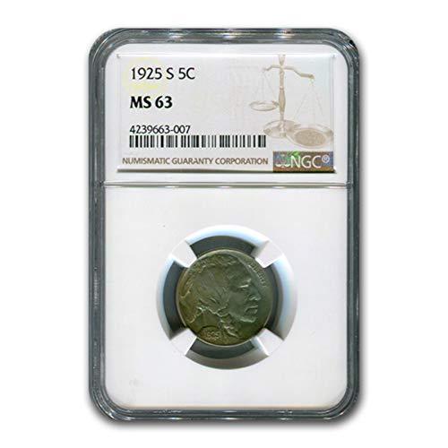 1925 S Buffalo Nickel MS-63 NGC Nickel MS-63 NGC