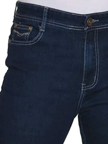 38 Jeans Azul Ice 48 Índigo Denim Elástico Capri pxqH4