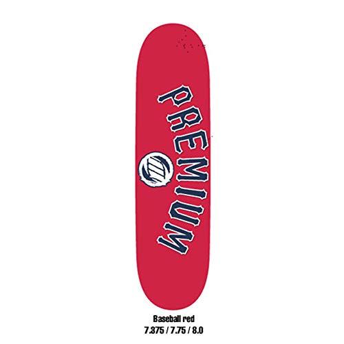 【おすすめ】 PREMIUM DECK プレミアム デッキ PREMIUM TEAM BASEBALL デッキ RED 8.0 BASEBALL スケートボード スケボー SKATEBOARD B07G6MMJ6H, ガーデニングと雑貨の菜園ライフ:8ae46525 --- a0267596.xsph.ru
