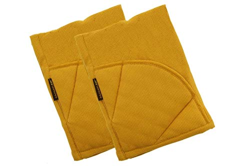- Rachael Ray Multifunctional 2-in-1 Moppine, Ultra Absorbent Kitchen Towel & Heat Resistant Pot Holder Mustard (Pack of 2)