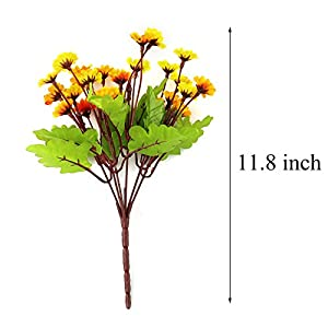 """WEWILL Artificial Flowers Pack of 4 11.8"""" Silk Daisy, Artificial Gerber Daisy for Home Decoration, Artificial Daisy for Wedding Decoration 2"""