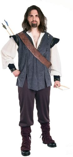 [Rubie's Costume Co. Men's Deluxe Robin Hood, As Shown, One Size] (Suede Renaissance Boot Costumes)