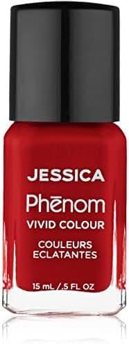 Jessica Phenom Nail Colour, Jessica Red, 0.500 fl. oz.