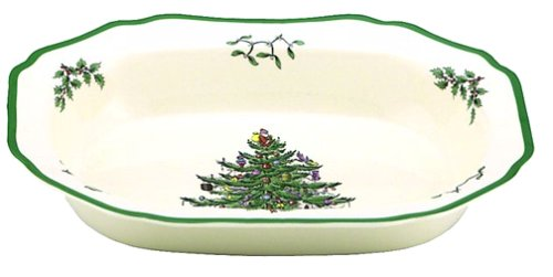 Spode Christmas Tree Open Vegetable Dish , 1 - Holiday Bowl Vegetable