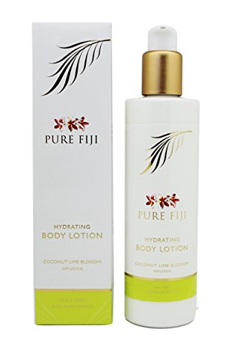 Pure Fiji Hydrating Body Lotion, Coconut Lime Blossom, 12 Ounce (Pure Fiji Hydrating Body Lotion)