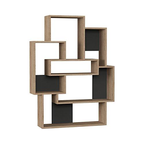 (Ada Home Décor DCRB2019 Bernard Bookcase, 40'' x 52'' x 9'', Oak & Anthracite)