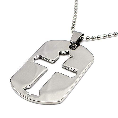 Davitu Necklace Engravable Custom Logo//Name Pendant /& Chain Cross Shape Hollow Pendant Gift for Men//Women Choker Chain Jewelry Trendy