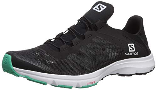 (Salomon Women's Amphib Bold W Running Shoe, Black/White/Electric Green, 8.5 M US)