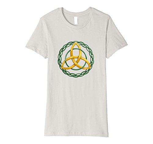 Irish Celtic Trinity Knot (Womens Irish Celtic Trinity Knot T-Shirt XL Silver)