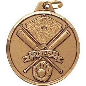 1 1/4 Inch Silver Softball Awa