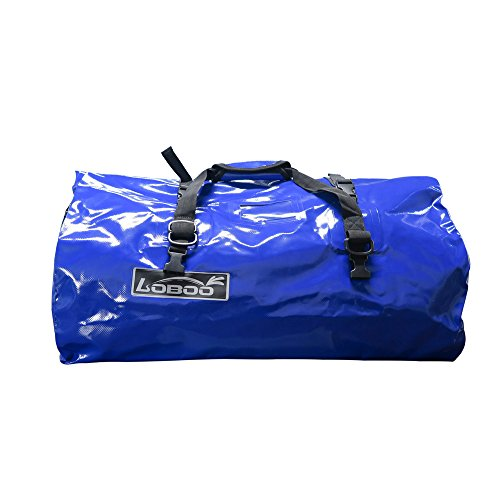 Expedition Travel Bag (Loboo Waterproof Bag Expedition Dry Duffel Bag Motorcycle Luggage For Travel ,Sports, Cycling,Hiking,Camping (40l, blue))
