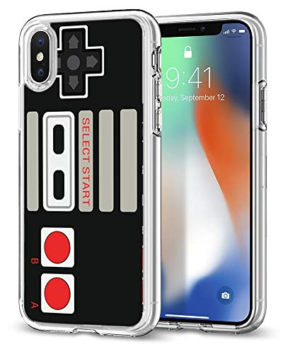 Game Case for iPhone xr,Gifun [Anti-Slide] Clear TPU Premium Flexible Protective Case Cover for iPhone XR 2018 - Retro Arcade Game (Cassette Tape Case For Iphone 4)