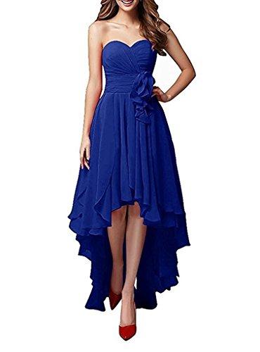 Festlichkleider Damen Abendkleider Langes La Royal Chiffon Rock mia Partykleider Braut Blau Brautjungfernkleider A Blau Linie Dunkel 0qwvafq