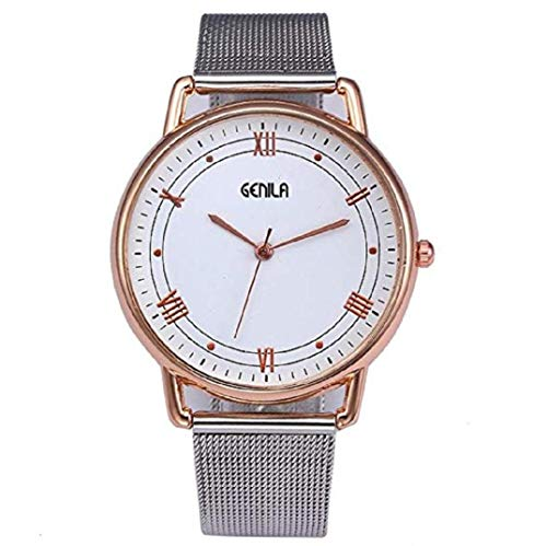 - TOPOB Woman's Classic Watch, Simple Casual Dial Quartz Comfortable Thin Stainless Steel Wrist Watch (Gold)
