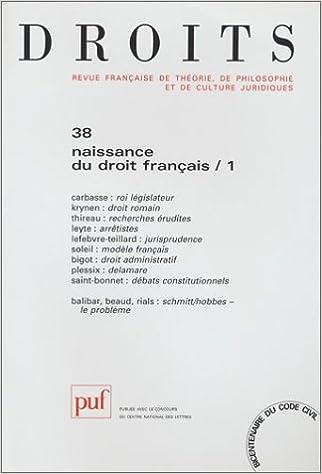 Livres Droits, numéro 38 : Naissance du droit français pdf ebook