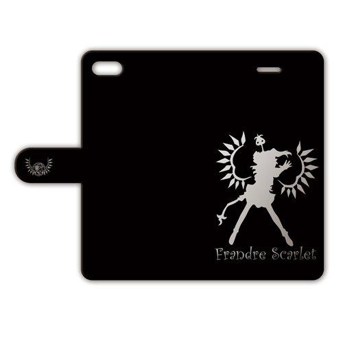 iPhone8 iPhone7 手帳型ケース 【フランドール・スカーレット】 黒/銀 017