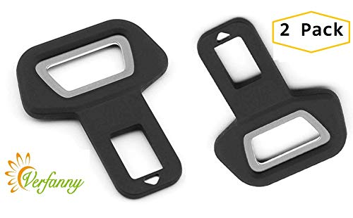 (2 Pack Seat Belt Buckle Clip Clamp Spun Car Seat Belt Buckle Clip Suitable for Most Cars )