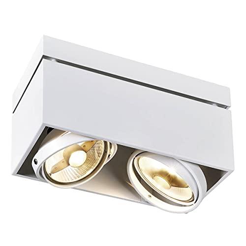Slv kardamodsingle es111 - Plafon superficie kardamod gu10 es111 2x75w blanco