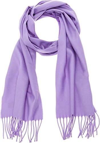 100% Cashmere Wool Scarf - Super Soft 12 Inch x 64.5 Inch Shawl Wrap w/Gift Box for Women and Men, Lavender