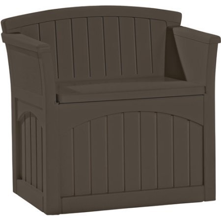 Outdoor Chair with 31 Gallon Capacity, Deck Box, Made of Resin,Weather Resistant, Java Color, Waterproof, Stores Outdoor Items, Ideal for Small Patio, Garden, Yard, Porch, BONUS E-book by Best Care LLC