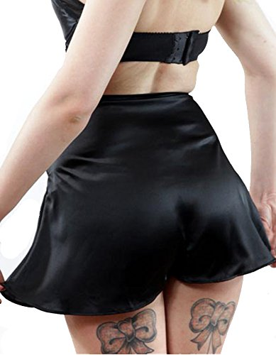 What Katie Did L2019 Vintage Satin French Knickers Schwarz