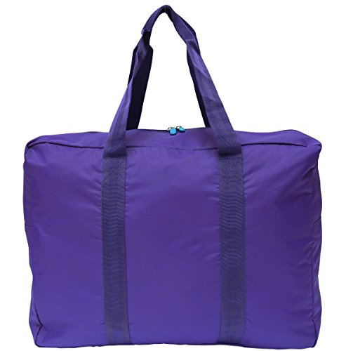 [Flight 001 Expandable Souvenir Bag Travel Tote, Purple, One Size] (Packable Expandable Bags Travel Accessories)
