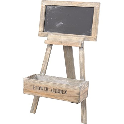 Direct Global Trading Decorative Wooden Flower Stand with Chalkboard