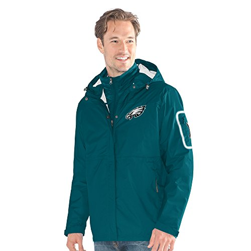 Philadelphia Eagles Mens Jackets - G-III Sports NFL Philadelphia Eagles Acclimation 3-in-1 Systems Jacket, 6X, Green