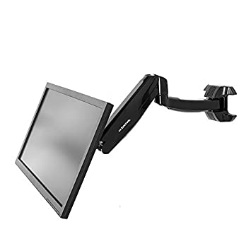 adjustable monitor wall mount arm quot lcd bracket dual staples