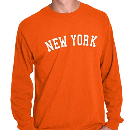 (New York State Shirt Athletic Wear USA T Novelty Gift Ideas Long Sleeve)